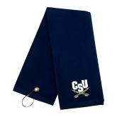 Navy Golf Towel-Primary Athletic Mark