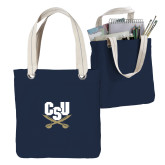 Allie Navy Canvas Tote-Primary Athletic Mark