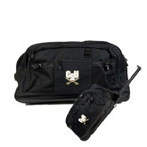 Urban Passage Wheeled Black Duffel-CSU-Swords Logo