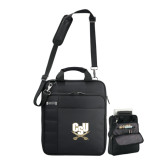 Kenneth Cole Black Vertical Checkpoint Friendly Messenger-CSU-Swords Logo