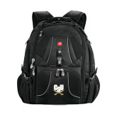Wenger Swiss Army Mega Black Compu Backpack-CSU-Swords Logo