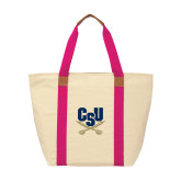 Natural/Tropical Pink Saratoga Tote-Primary Athletic Mark