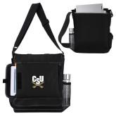 Impact Vertical Black Computer Messenger Bag-Primary Athletic Mark