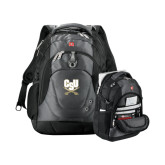 Wenger Swiss Army Tech Charcoal Compu Backpack-CSU-Swords Logo