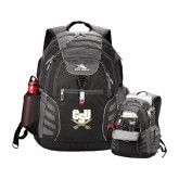High Sierra Big Wig Black Compu Backpack-CSU-Swords Logo