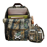 Heritage Supply Camo Computer Backpack-CSU-Swords Logo