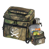 Big Buck Camo Sport Cooler-CSU-Swords Logo