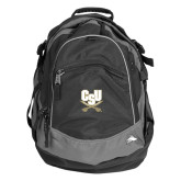 High Sierra Black Fat Boy Day Pack-CSU-Swords Logo