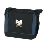 Excel Black/Blue Saddle Brief-CSU-Swords Logo