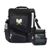 Momentum Black Computer Messenger Bag-CSU-Swords Logo