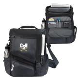 Momentum Black Computer Messenger Bag-Primary Athletic Mark