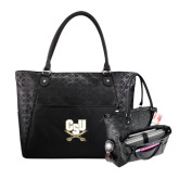 Sophia Checkpoint Friendly Black Compu Tote-CSU-Swords Logo