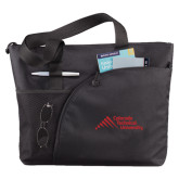 Excel Black Sport Utility Tote-Official Logo - Stacked