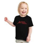 Toddler Black T Shirt-Official Logo - Stacked
