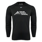 Under Armour Black Long Sleeve Tech Tee-Official Logo - Stacked