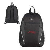 Atlas Black Computer Backpack-Official Logo - Stacked