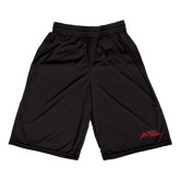 Russell Performance Black 9 Inch Short w/Pockets-Official Logo - Stacked