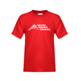 Youth Red T Shirt-Official Logo - Stacked