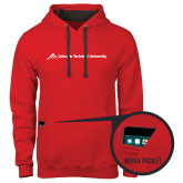 Contemporary Sofspun Red Hoodie-Official Logo - Flat