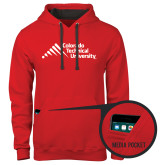 Contemporary Sofspun Red Hoodie-Official Logo - Stacked