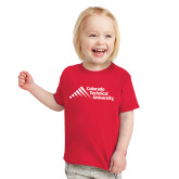 Toddler Red T Shirt-Official Logo - Stacked
