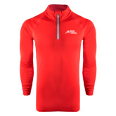 Under Armour Red Tech 1/4 Zip Performance Shirt-Official Logo - Stacked