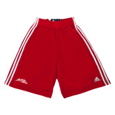Adidas Climalite Red Practice Short-Official Logo - Stacked