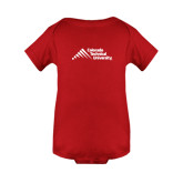 Red Infant Onesie-Official Logo - Stacked