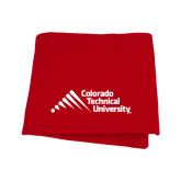 Red Sweatshirt Blanket-Official Logo - Stacked