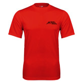 Performance Red Tee-Official Logo - Stacked
