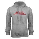 Grey Fleece Hood-Official Logo - Stacked