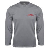 Syntrel Performance Steel Longsleeve Shirt-Official Logo - Stacked