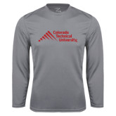 Performance Steel Longsleeve Shirt-Official Logo - Stacked