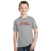Youth Grey T-Shirt-Official Logo - Stacked