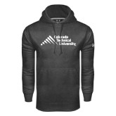 Under Armour Carbon Performance Sweats Team Hoodie-Official Logo - Stacked