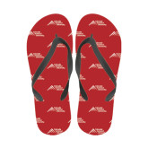 Ladies Full Color Flip Flops-Official Logo - Stacked
