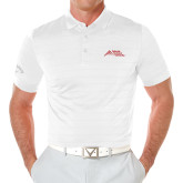 Callaway Opti Vent White Polo-Official Logo - Stacked