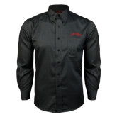 Red House Black Long Sleeve Shirt-Official Logo - Stacked
