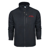 Columbia Ascender Softshell Black Jacket-Official Logo - Stacked