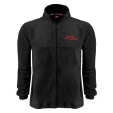 Fleece Full Zip Black Jacket-Official Logo - Stacked