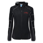Columbia Ladies Sweet As Black Hooded Jacket-Official Logo - Stacked