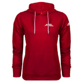 Adidas Climawarm Red Team Issue Hoodie-Official Logo - Stacked
