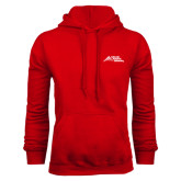 Red Fleece Hood-Official Logo - Stacked