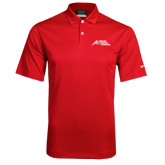 Nike Dri Fit Red Pebble Texture Sport Shirt-Official Logo - Stacked