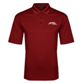 Red Performance Fine Jacquard Polo-Official Logo - Stacked