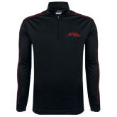 Nike Golf Dri Fit 1/2 Zip Black/Red Cover Up-Official Logo - Stacked
