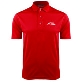 Red Dry Mesh Polo-Official Logo - Stacked