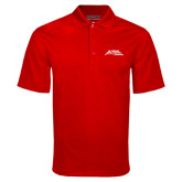 Red Mini Stripe Polo-Official Logo - Stacked
