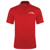 Columbia Red Omni Wick Round One Polo-Official Logo - Stacked