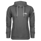 Adidas Climawarm Charcoal Team Issue Hoodie-Official Logo - Stacked